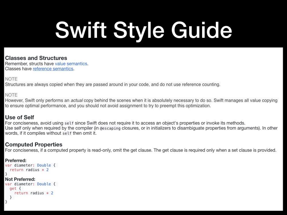 iOS Best Practices  Part 2: Swift Code Style